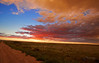 Pawnee National Grassland, Colorado Sunset after an evening storm.